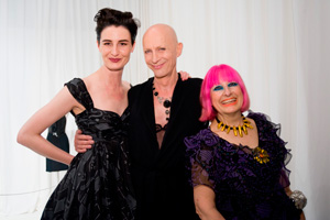 Richard O'Brian, Zandra Rhodes and Erin O'Connor
