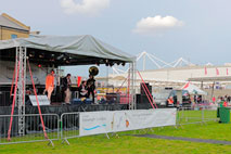 Stage and Sound system outside Excel Centre